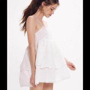 Urban Outfitters Katrina Eyelet Tiered mini dress